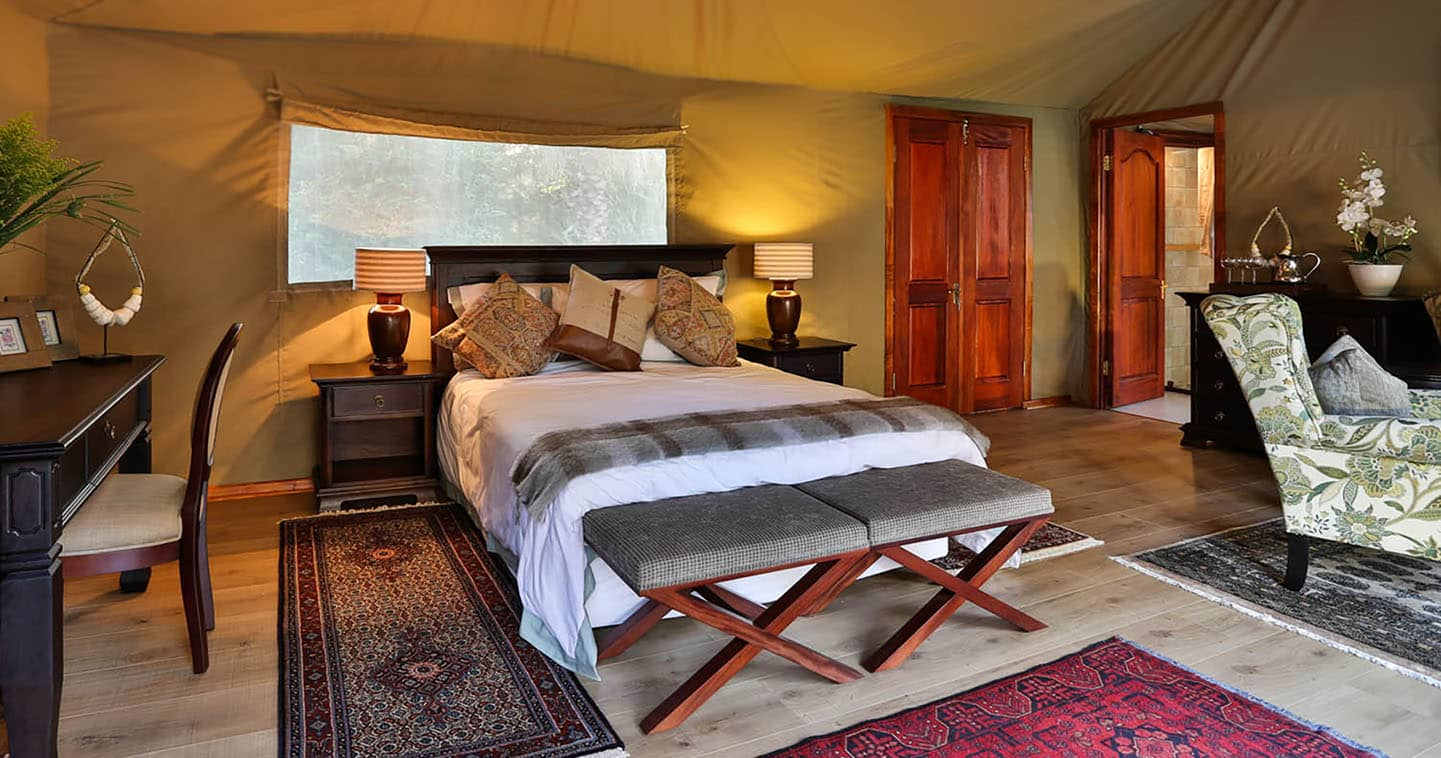 Enjoy the Luxury Bedroom at Kadizora Camp in the Okavango Delta