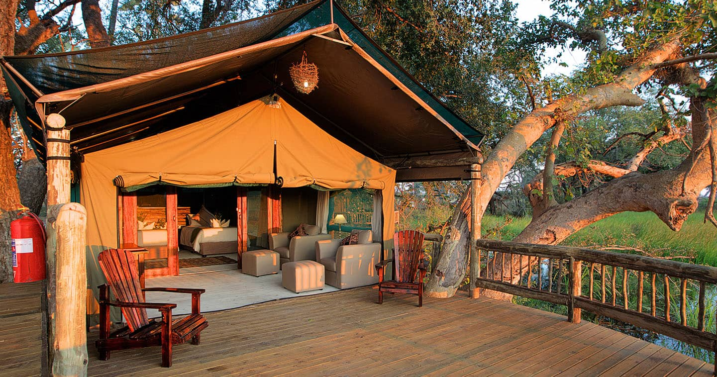 Stay at Gunns Camp in the Okavango Delta for the Ultimate Safari Experience