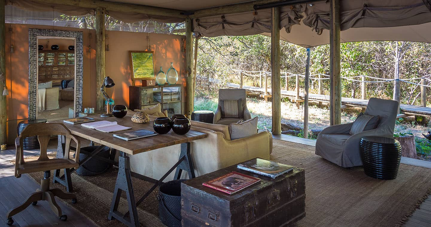Lounge at the Duma Tau in Okavango Delta