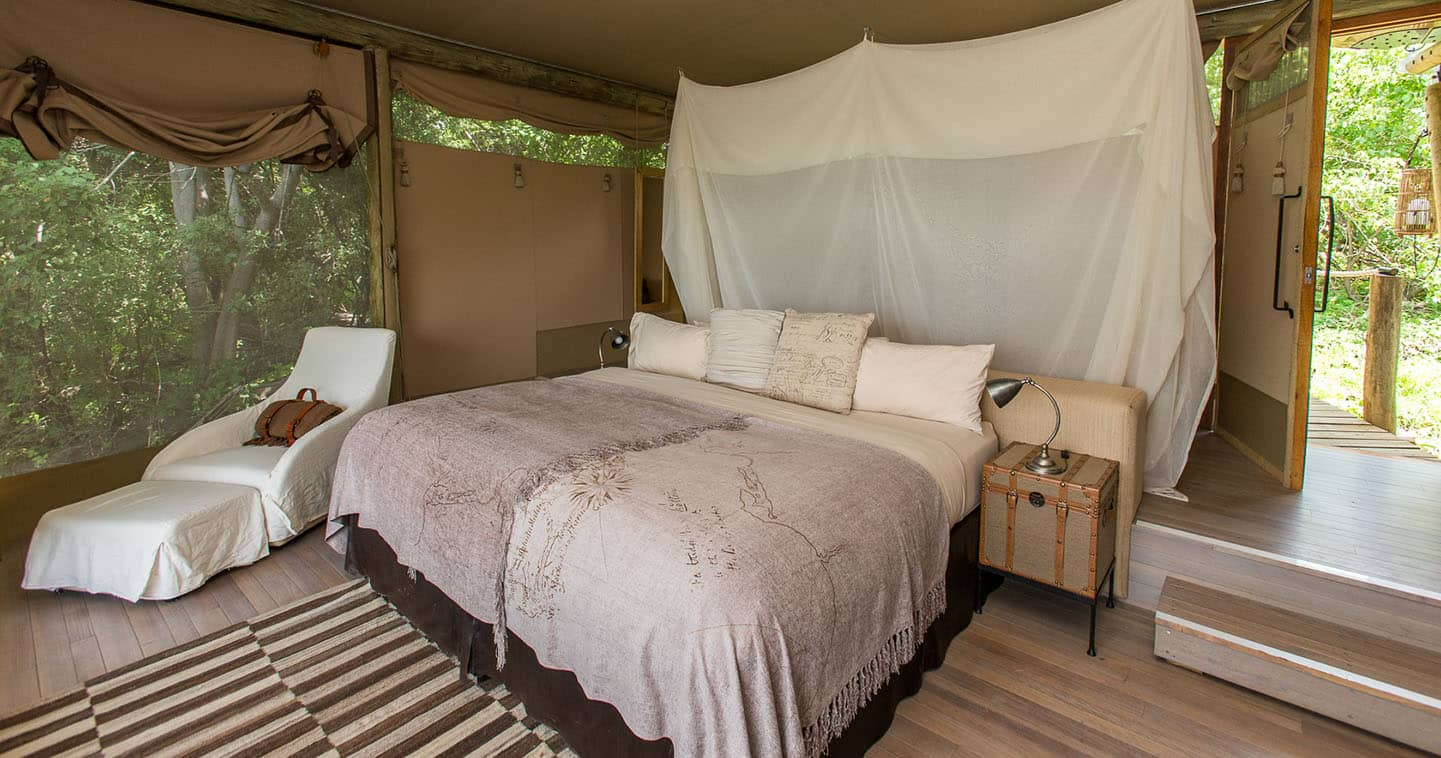 Luxury Duma Tau Bedroom in the Okavango Delta
