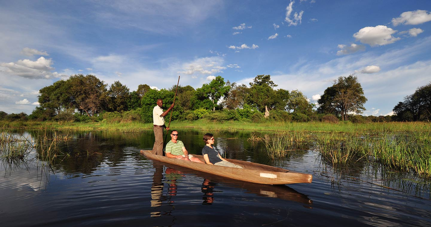 Let Sanctuary Stanleys Camp take you on Mekoro Safari in the Okavango Delta