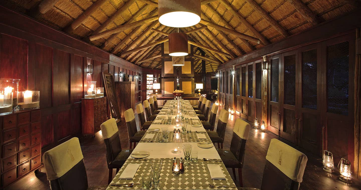 Nxabega Okavago Tented Camp Dining Room in Okavango Delta
