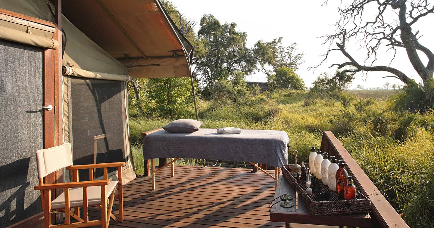Complete Relaxation at the Spa in Nxabega Okavago Tented Camp