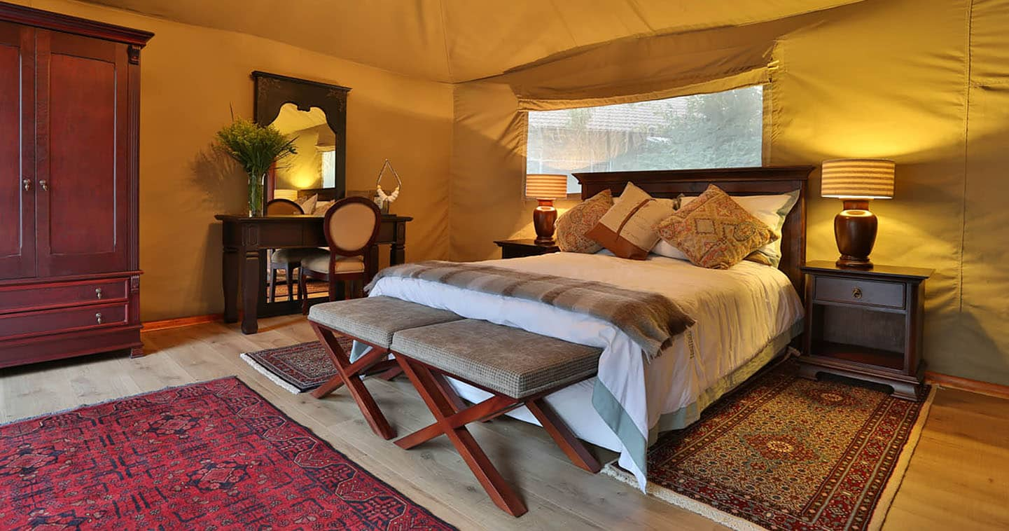 Bedroom at Kadizora Camp in the Okavango Delta