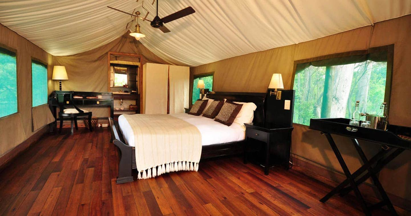 Enjoy the luxury bedroom at Sanctuary Stanleys Camp