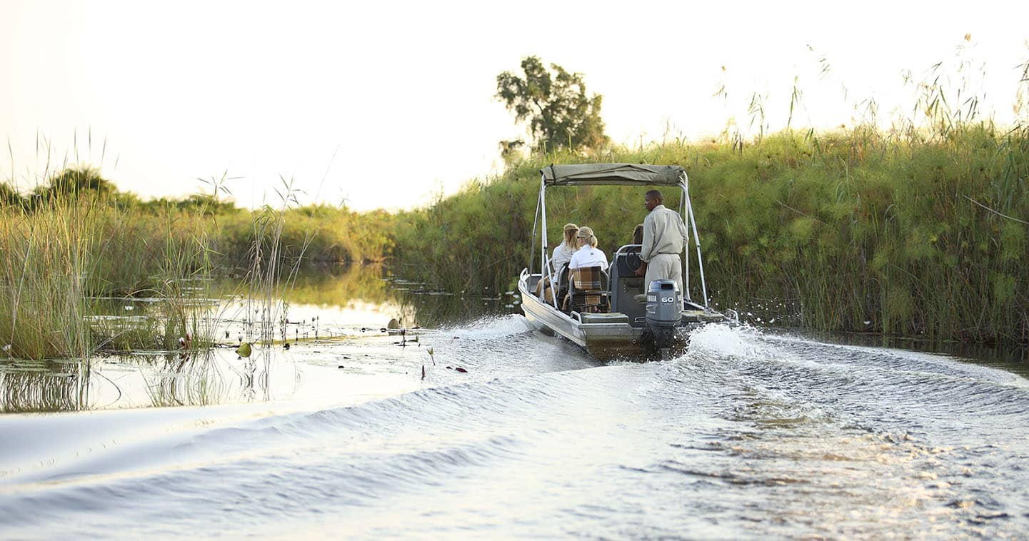 Let Nxabega Okavago Tented Camp take you on Boat Trip in the Okavango Delta
